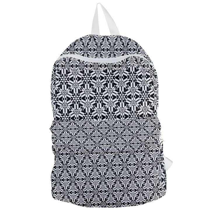 Ornamental Checkerboard Foldable Lightweight Backpack