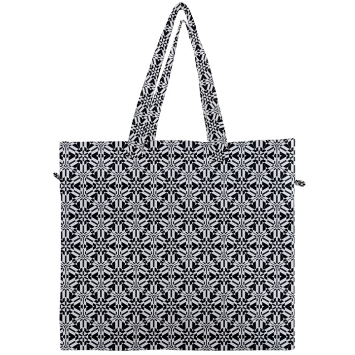 Ornamental Checkerboard Canvas Travel Bag