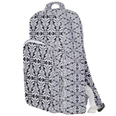 Ornamental Checkerboard Double Compartment Backpack