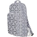 Ornamental Checkerboard Double Compartment Backpack View1