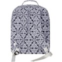 Ornamental Checkerboard Double Compartment Backpack View3