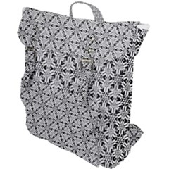 Ornamental Checkerboard Buckle Up Backpack