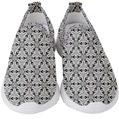 Ornamental Checkerboard Kids  Slip On Sneakers by Mariart