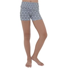 Ornamental Checkerboard Kids  Lightweight Velour Yoga Shorts