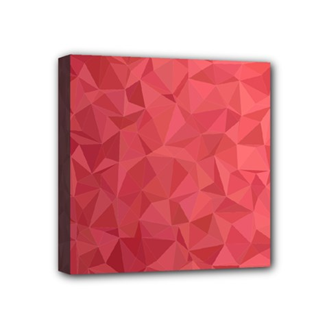 Triangle Background Abstract Mini Canvas 4  X 4  (stretched)