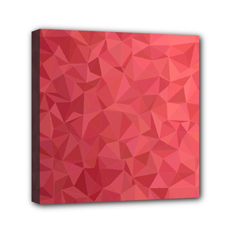 Triangle Background Abstract Mini Canvas 6  x 6  (Stretched)