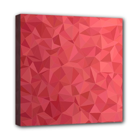 Triangle Background Abstract Mini Canvas 8  x 8  (Stretched)