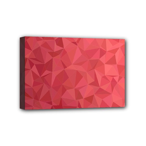 Triangle Background Abstract Mini Canvas 6  x 4  (Stretched)
