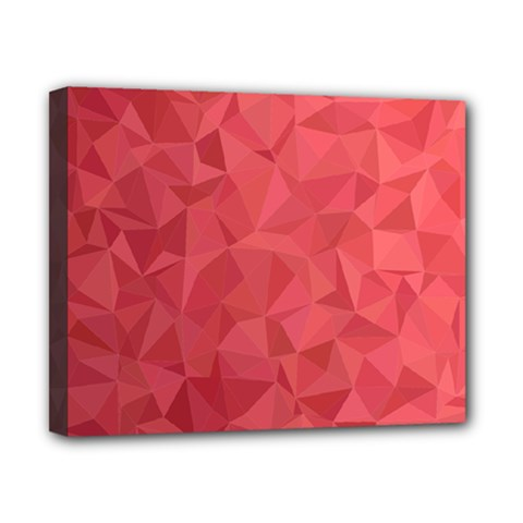 Triangle Background Abstract Canvas 10  x 8  (Stretched)