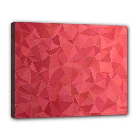 Triangle Background Abstract Canvas 14  x 11  (Stretched)