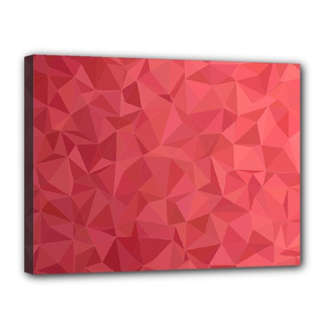 Triangle Background Abstract Canvas 16  X 12  (stretched)