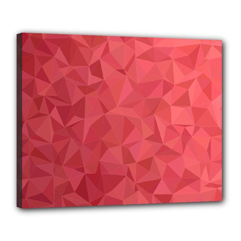 Triangle Background Abstract Canvas 20  x 16  (Stretched)