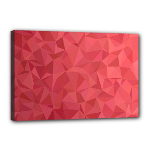 Triangle Background Abstract Canvas 18  x 12  (Stretched)