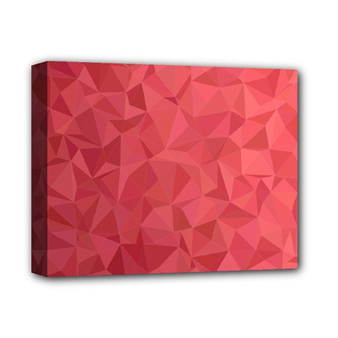 Triangle Background Abstract Deluxe Canvas 14  x 11  (Stretched)