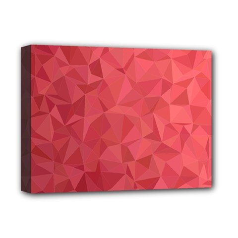 Triangle Background Abstract Deluxe Canvas 16  x 12  (Stretched)