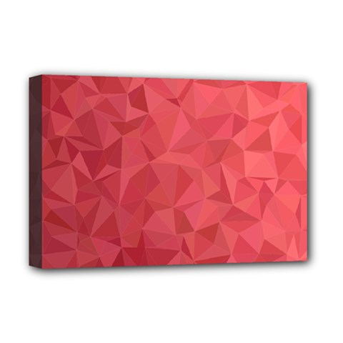 Triangle Background Abstract Deluxe Canvas 18  x 12  (Stretched)