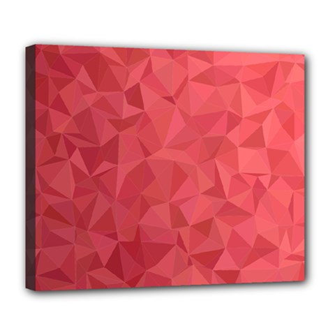 Triangle Background Abstract Deluxe Canvas 24  x 20  (Stretched)