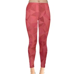 Triangle Background Abstract Leggings