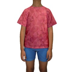 Triangle Background Abstract Kids  Short Sleeve Swimwear