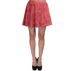 Triangle Background Abstract Skater Skirt