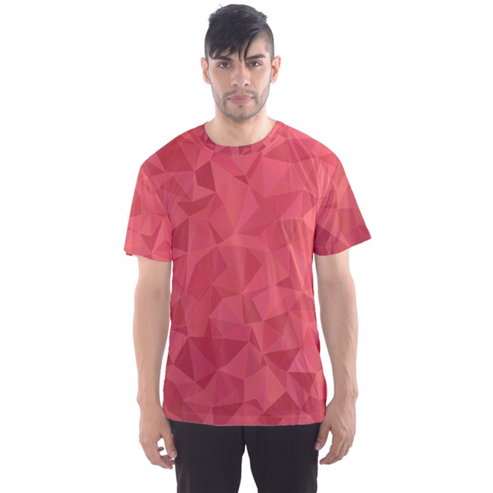 Triangle Background Abstract Men s Sports Mesh Tee