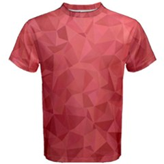 Triangle Background Abstract Men s Cotton Tee
