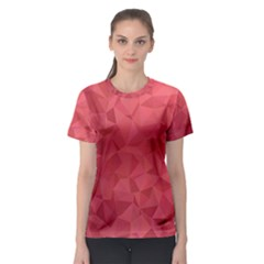 Triangle Background Abstract Women s Sport Mesh Tee