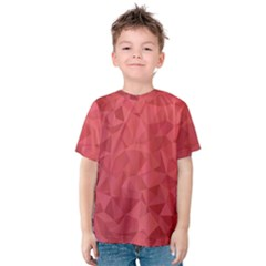 Triangle Background Abstract Kids  Cotton Tee