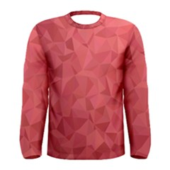Triangle Background Abstract Men s Long Sleeve Tee