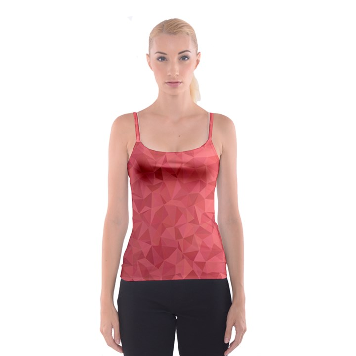 Triangle Background Abstract Spaghetti Strap Top