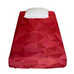 Triangle Background Abstract Fitted Sheet (Single Size)