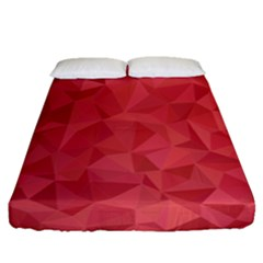 Triangle Background Abstract Fitted Sheet (Queen Size)