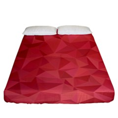 Triangle Background Abstract Fitted Sheet (King Size)