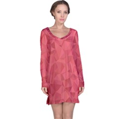 Triangle Background Abstract Long Sleeve Nightdress