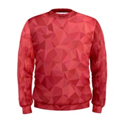 Triangle Background Abstract Men s Sweatshirt