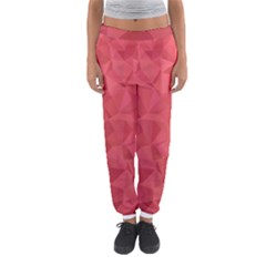 Triangle Background Abstract Women s Jogger Sweatpants