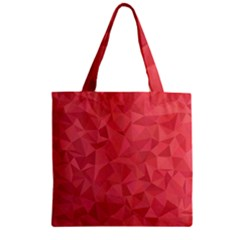 Triangle Background Abstract Zipper Grocery Tote Bag