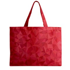 Triangle Background Abstract Zipper Mini Tote Bag