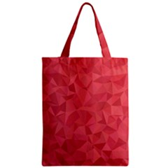 Triangle Background Abstract Zipper Classic Tote Bag