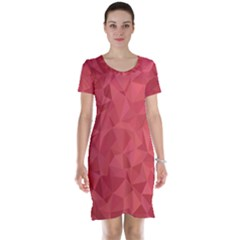 Triangle Background Abstract Short Sleeve Nightdress