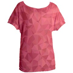 Triangle Background Abstract Women s Oversized Tee
