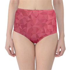 Triangle Background Abstract Classic High-Waist Bikini Bottoms