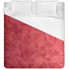 Triangle Background Abstract Duvet Cover (King Size)