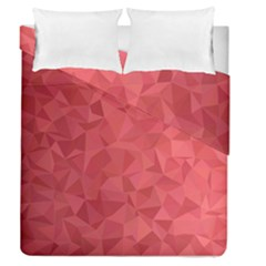 Triangle Background Abstract Duvet Cover Double Side (Queen Size)