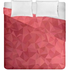 Triangle Background Abstract Duvet Cover Double Side (King Size)