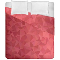 Triangle Background Abstract Duvet Cover Double Side (California King Size)