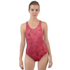 Triangle Background Abstract Cut-Out Back One Piece Swimsuit