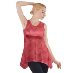 Triangle Background Abstract Side Drop Tank Tunic