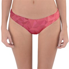 Triangle Background Abstract Reversible Hipster Bikini Bottoms