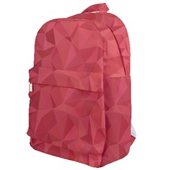 Triangle Background Abstract Classic Backpack